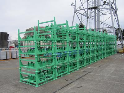 大丸製作所 短納期 専用パレット導入事例 ダイプラストウッド使用 建機部品専用パレット