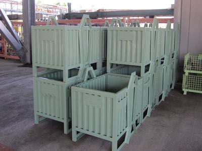 大丸製作所 短納期 専用パレット事例 重量物対応汎用ボックス型容器